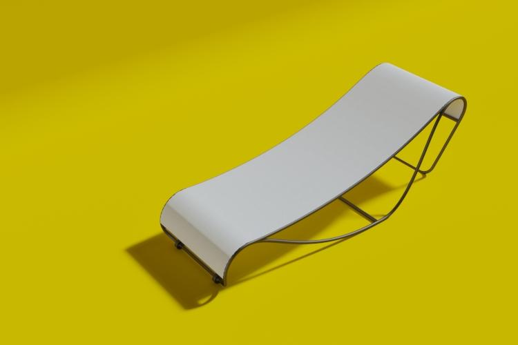 Seahorse Sunbed Liegestuhl White Edition